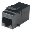 CAT6 Coupler - Unhielded, Straight-Pin, Office Black